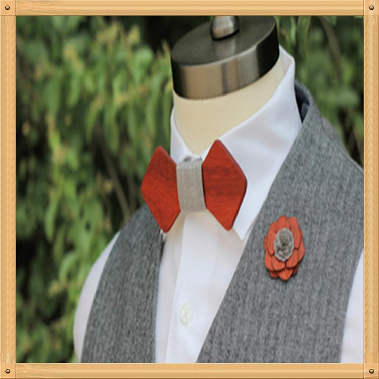 New Design fashion customized wooden bow tie for wedding  12