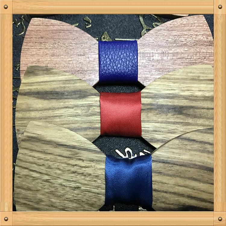 New Design fashion customized wooden bow tie for wedding  15