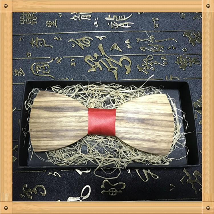 New Design fashion customized wooden bow tie for wedding  16