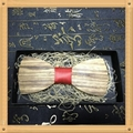 New Design fashion customized wooden bow tie for wedding