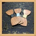 New Design fashion customized wooden bow tie for wedding  20