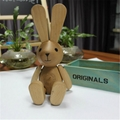 New Design CUSTOMIZED Moveable animal wooden Bunny for Agnes B in france