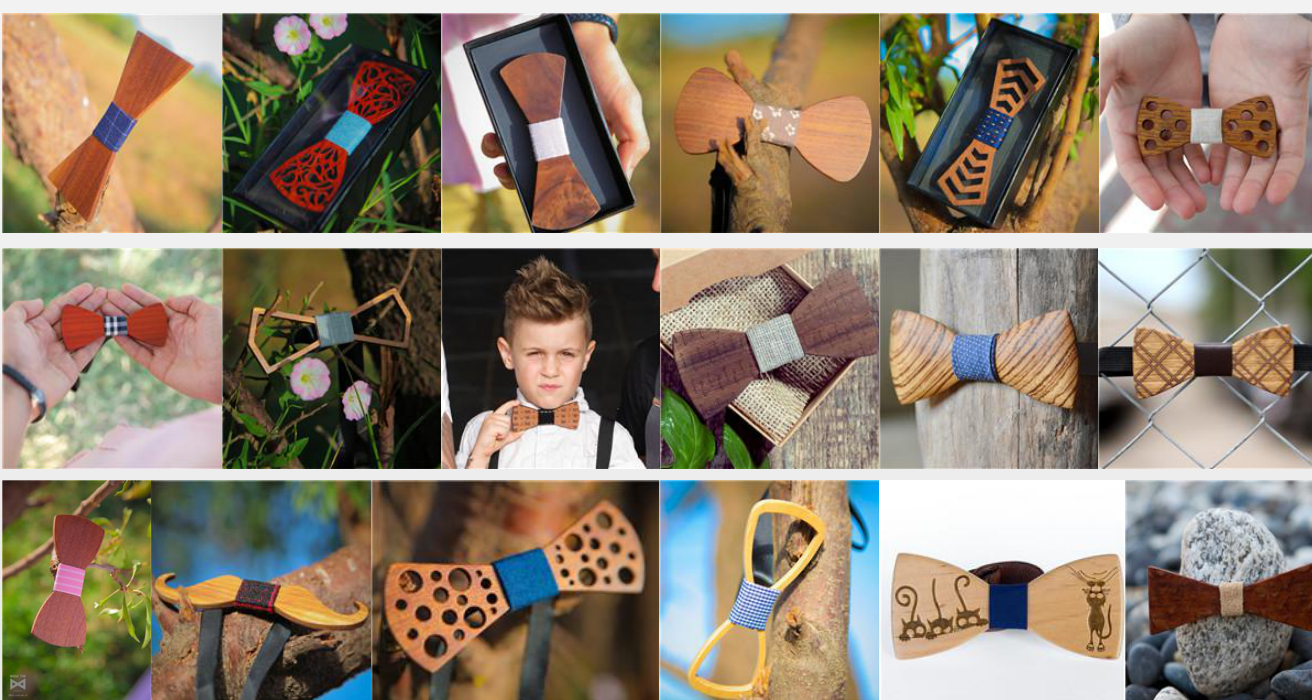 MBT217 New Design fashion 3D customized redwood wooden bow tie for wedding  5