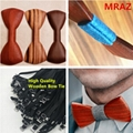 MBT216 New Design fashion 3D customized redwood wooden bow tie for wedding