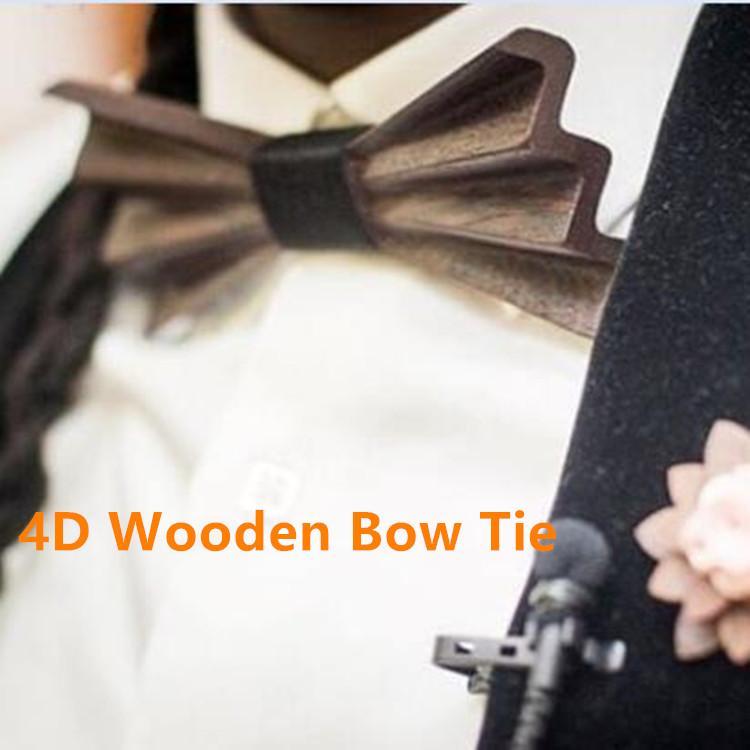 MBT4001 New Design fashion 4D customized wooden bow tie for man 1