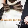 MBT4001 New Design fashion 4D customized wooden bow tie for man