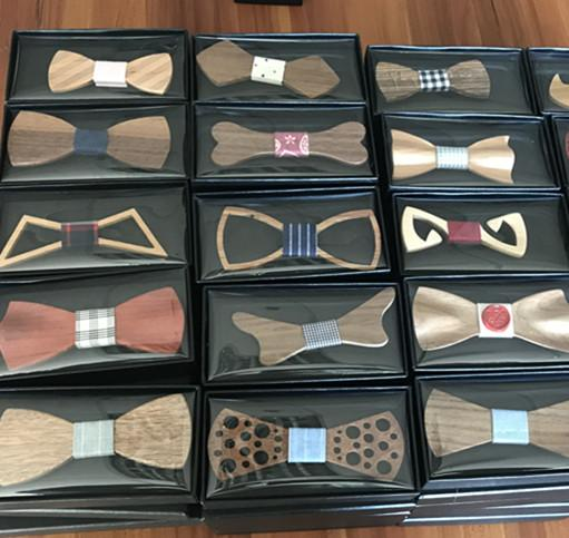 MBT5001 New Design fashion magnetic customized wooden bow tie for man's suit 8