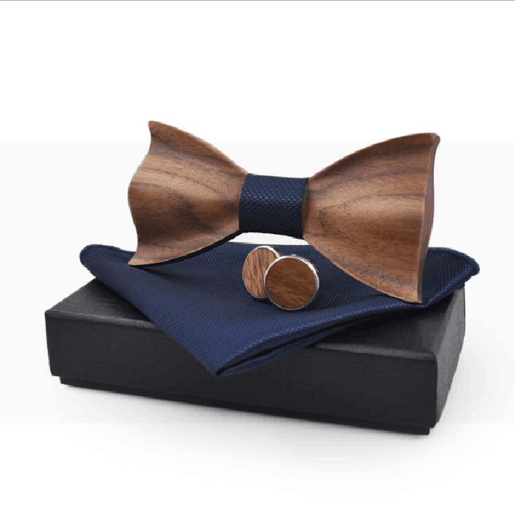 MBT5001 New Design fashion magnetic customized wooden bow tie for man's suit 10