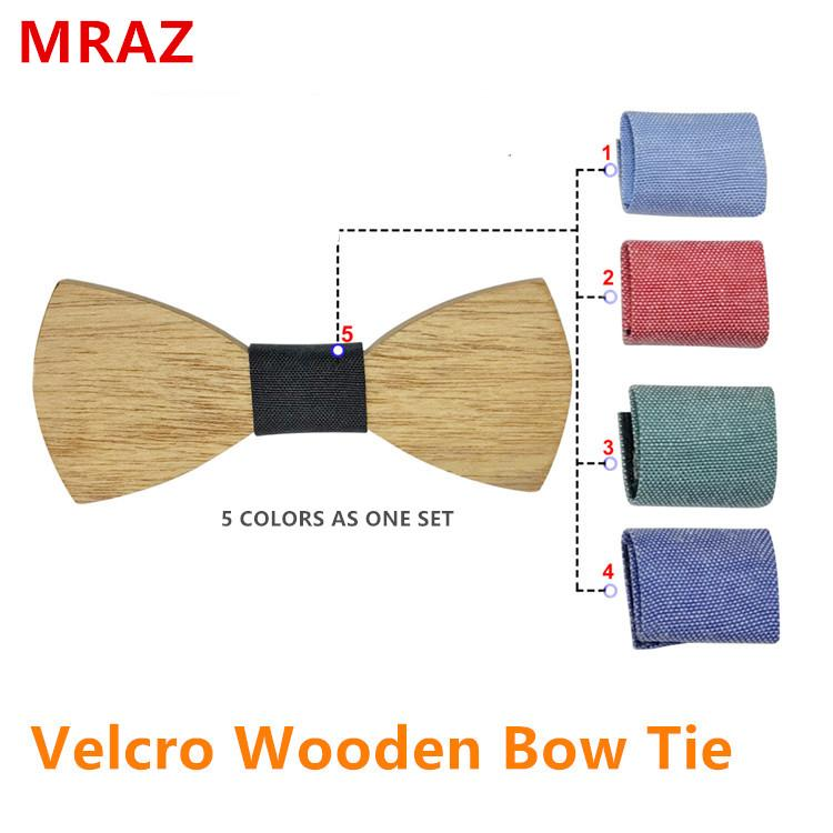 MBT5002 New Design fashion changeable customized wooden bow tie for man's suit 1