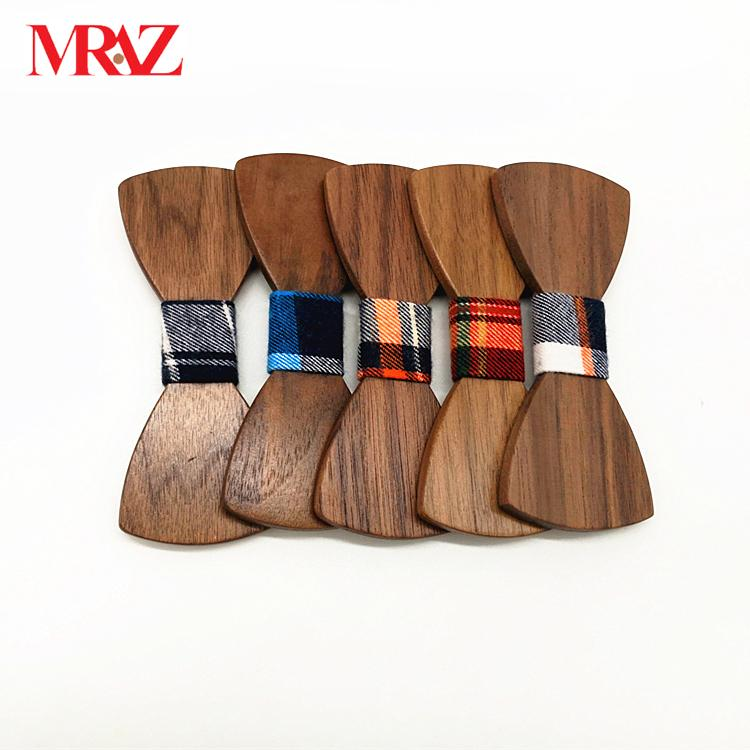 Discount fashion customized wooden bow tie for wedding 2