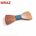 Discount fashion customized wooden bow tie for wedding 4