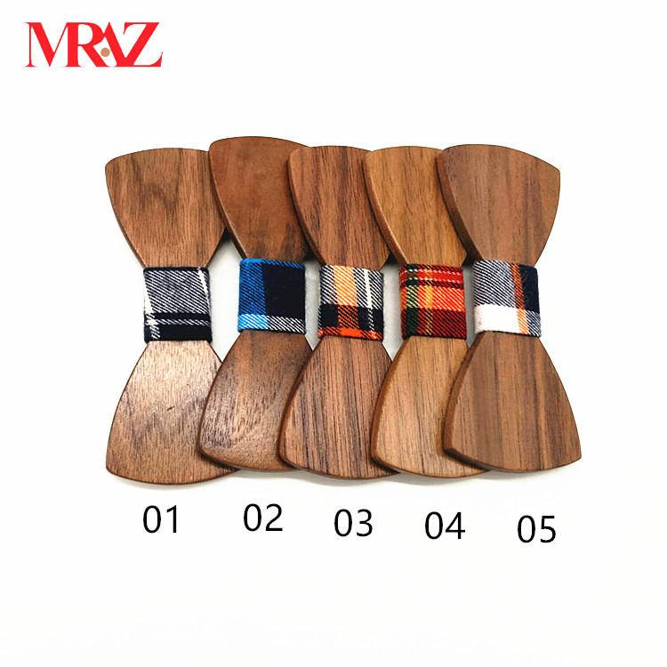 Discount fashion changeable customized wooden bow tie for man's suit 1