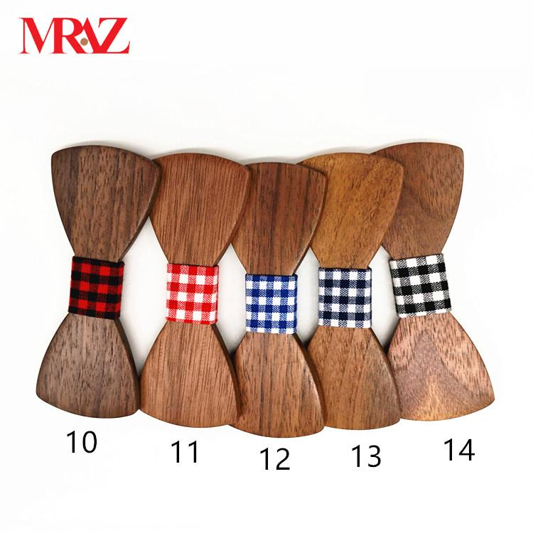 Discount fashion changeable customized wooden bow tie for man's suit 5