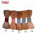Discount fashion changeable customized wooden bow tie for man's suit