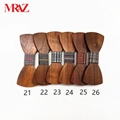 Discount fashion changeable customized wooden bow tie for man's suit 7