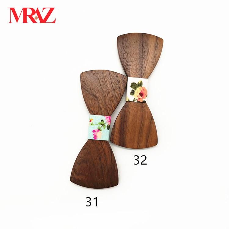 Discount fashion changeable customized wooden bow tie for man's suit 10