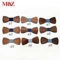 Discount fashion changeable customized wooden bow tie for man's suit 11
