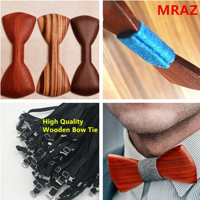 Discount fashion changeable customized wooden bow tie for man's suit 13