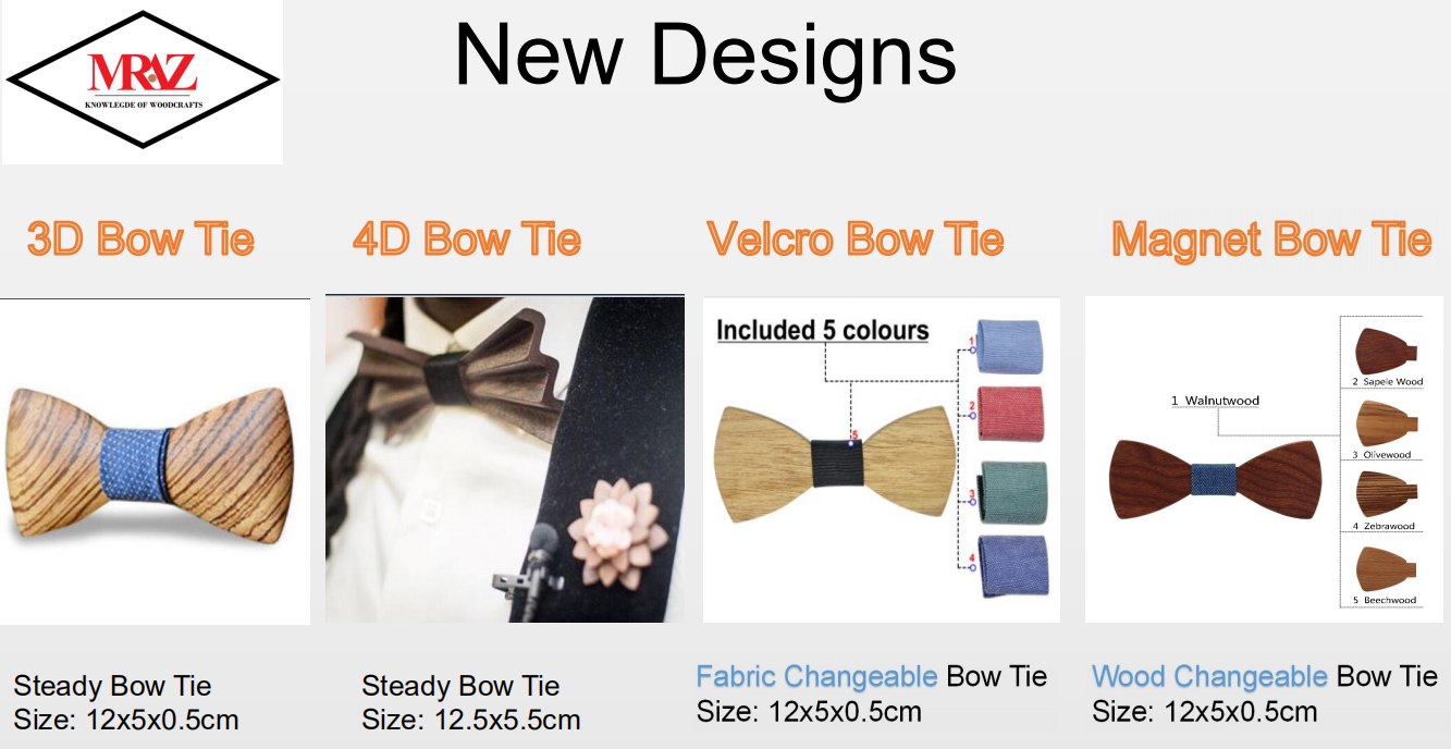 Discount fashion changeable customized wooden bow tie for man's suit 15