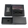Fashion black cheap handmade Bow tie package box gift box  4