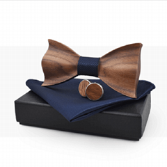 Fashion black cheap handmade Bow tie package box gift box