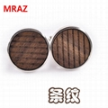 Hot sell Fashion cheap handmade wooden metal cufflinks for men