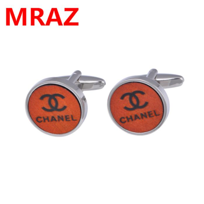 New designs Fashion cheap wooden metal cufflinks for men