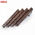 Fashion cheap handmade wooden metal tie