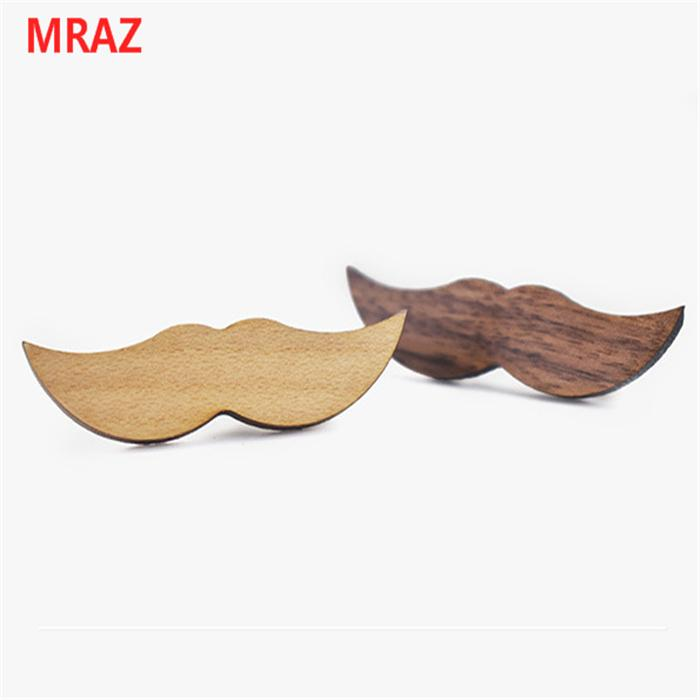 Fashion cheap handmade wooden metal tie clips for men 3