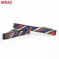 Fashion colorful handmade wooden metal tie clips for men