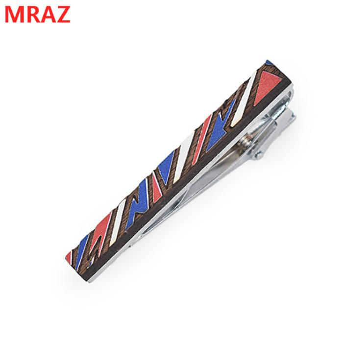 Fashion colorful handmade wooden metal tie clips for men 3