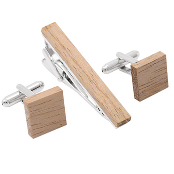 Fashion colorful handmade wooden metal tie clips for men 5