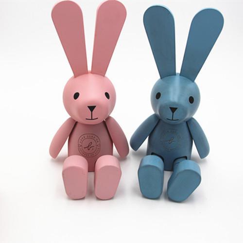 New Designs wooden rabbit dolls , wooden toys