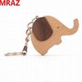 New Designs wooden elephant keychain ,