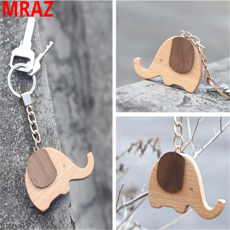 New Designs wooden elephant keychain , wooden elephant toys for zoo 5