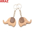 New Designs wooden metal keychain , wooden elephant toys for zoo