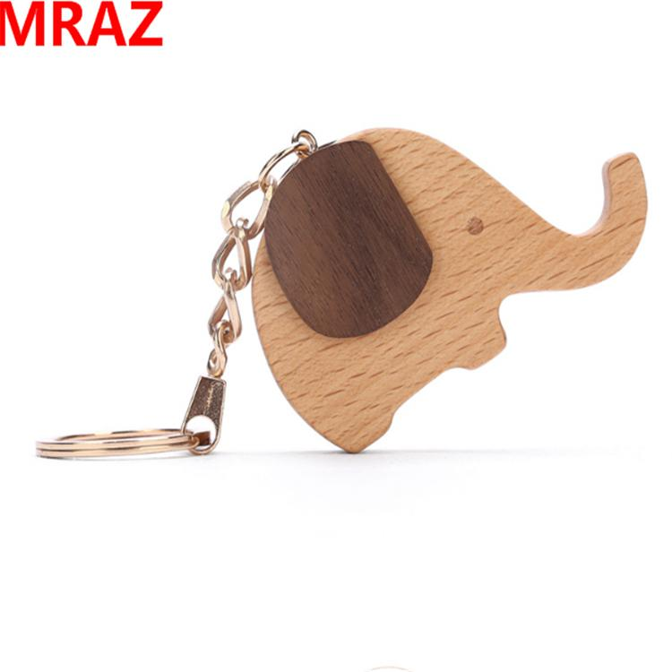 New Designs wooden metal keychain , wooden elephant toys for zoo 2