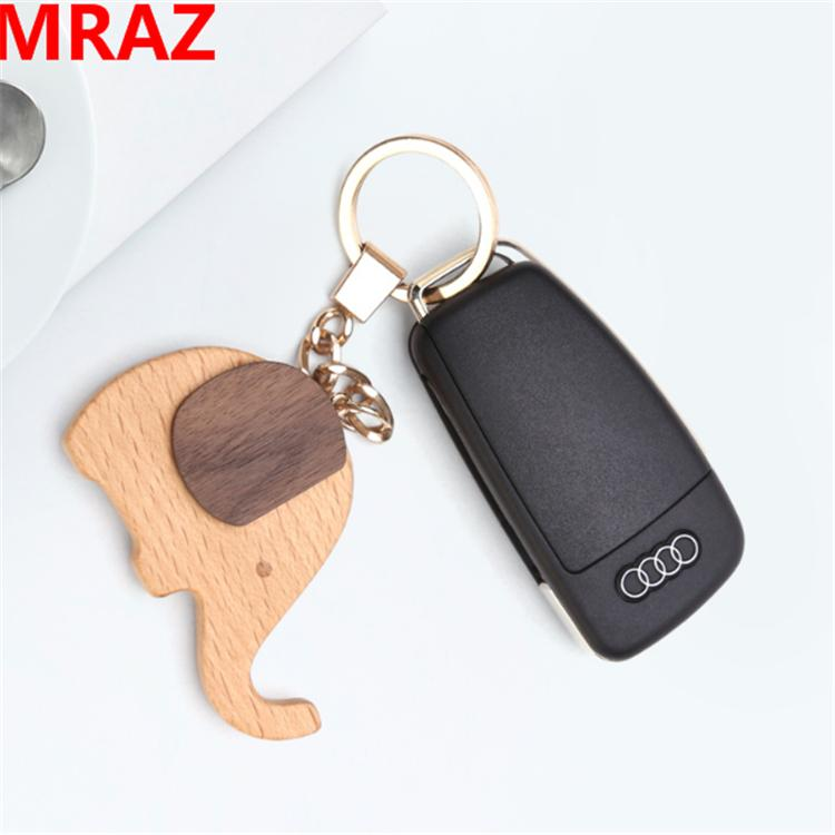 New Designs wooden metal keychain , wooden elephant toys for zoo 4