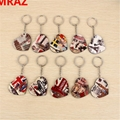 New Designs Promotional Items wooden metal keychain 4