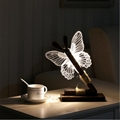Creative home decor ebay china Butterfly Wooden 3D led desk lamp