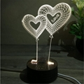 Creative home decor ebay china Wooden 3D led desk lamp Night Light