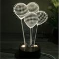 Creative home decor ebay china Wooden 3D led desk lamp Night Light