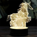 Creative Christmas decoration Wooden 3D led Night Light