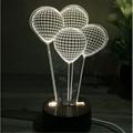 Creative Valentine's Day Gifts Wooden 3D led desk lamp Night Light 4