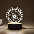 Creative Valentine's Day Gifts Wooden 3D led desk lamp Night Light
