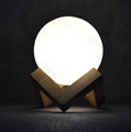 Creative colorful LED Wooden 3D moon light lamp
