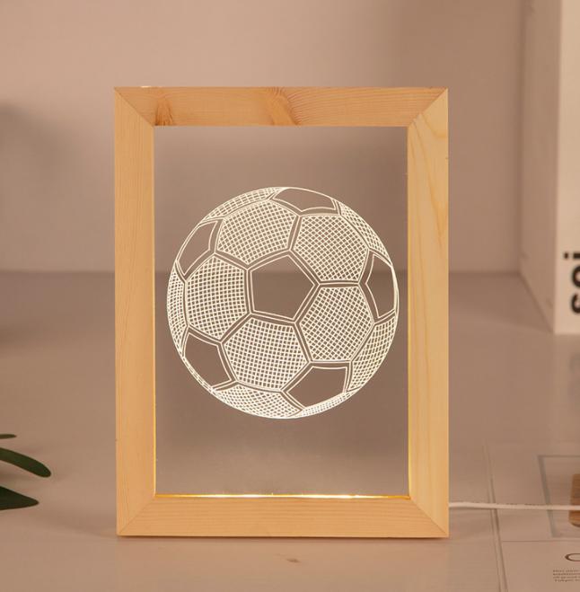 Valentine's Day Gifts Wooden 3D led Photo Frame desk lamp Night Light