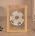 Valentine's Day Gifts Wooden 3D led Photo Frame desk lamp Night Light 1