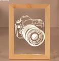 Valentine's Day Gifts Wooden 3D led Photo Frame desk lamp Night Light 2