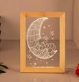 Valentine's Day Gifts Wooden 3D led Photo Frame desk lamp Night Light 3